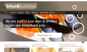 Webdesign van Bites & Bubbles